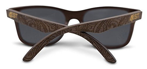 Bamboo Wood Sunglasses -Polarized handmade wooden shades in a wayfarer that Floats by 4est Shades (Image #2)