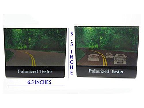 "Polarized Tester Test Your Sunglasses Polarized Lens 5.5""X6.5"" (BLACK, 2 CARS)"