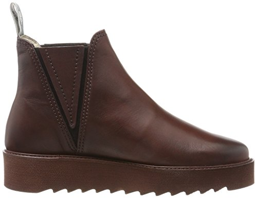 Marc Heel Flat bordeaux Rouge Chelsea Boots O'polo 70814245001125 Femme awar7fq
