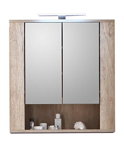 Trendteam Smart Living Badezimmer Spiegelschrank Spiegel Star 70 X 75 X 22 Cm In Eiche Monument Nb Absetzung Touchwood Dunkelbraun Ohne