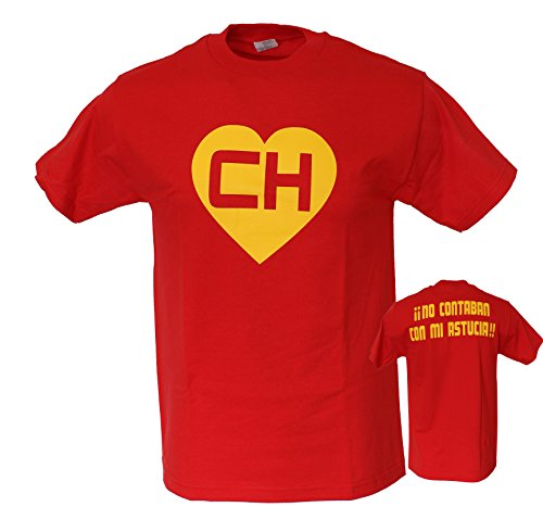 EL Chapulin Colorado EL Chavo CH Chespirito Men's Funny T Shirt X-Large (Ch Silk Shirt)