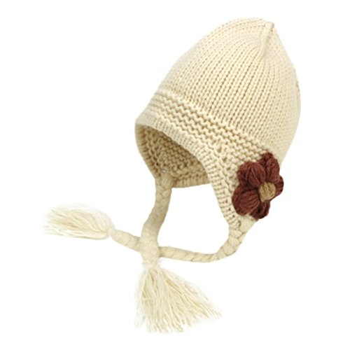 gbsell-toddler-baby-girls-floral-knitted-beanie-warm-cap-hats-with-braid-beige