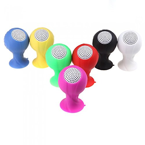 (Kingzer Brazil 2014 World Cup Football Speaker Portable with Silicone Sucker Holder)