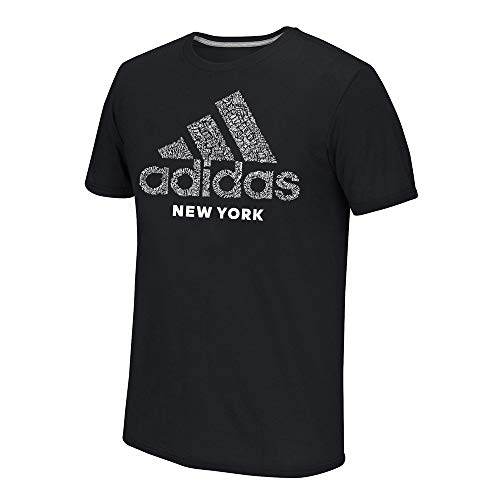 - adidas Men's Black Adi EQT Scrawl NYC Logo Climalite Performance T-Shirt (Medium)
