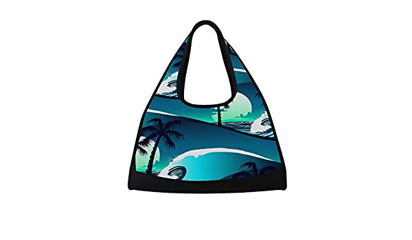 AHOMY Canvas Sports Gym Bag Tropical Palm Tree Abstract Travel Shoulder Bag