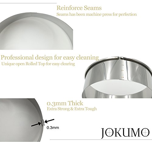 Commercial Kitchen Designer Jobs In Uae: JOKUMO 12 Piece Plain Round Pastry/Cookie Cutter Set Heavy Duty Commercial Grade 18/8 304