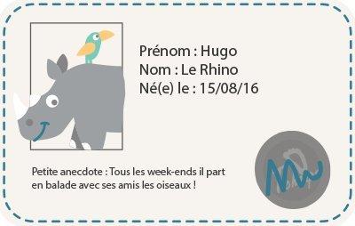 Chaussons BÉbÉ Cuir Souple Fourres Hugo Le Rhino-23/24