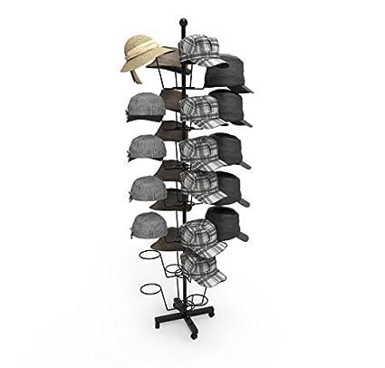 33335031e25 Homdox 7 Tier Hat Display Rack Stand Rotating Hat Rack Adjustable Metal  Free Standing Floor Stand