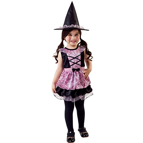 Totally Ghoul Spider Witch Costume Size Toddler 4-6 (Pink Witch Costume Toddler)