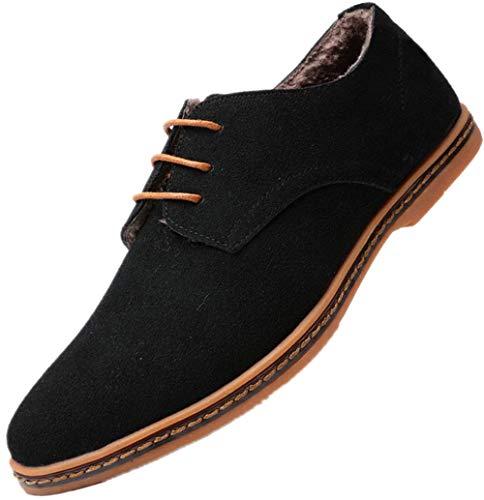 Extra particolarmente Dimensione casuale 48 Grande Nero Bebete5858 Pelle Uomo scamosciato PU Uomini stile Inverno Inghilterra scarpe 5dtvqEw