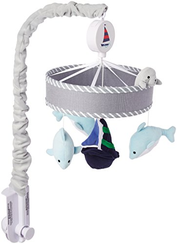 Lambs & Ivy Nautical Musical Mobile, Blue/Gray by Lambs & Ivy