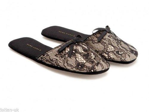 Zara - Zapatillas de estar por casa de sintético para mujer black nude: Amazon.es: Zapatos y complementos