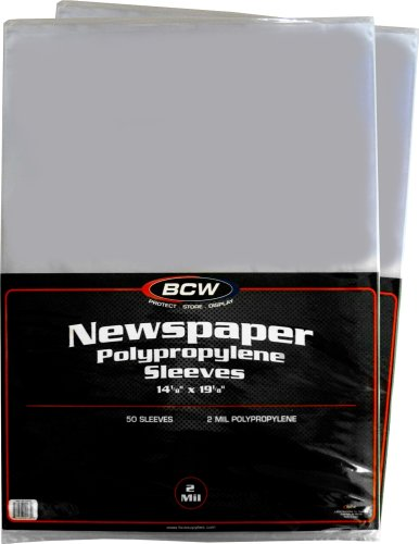 Newspaper Collector ((100) Newspaper Sleeves - 14-1/8