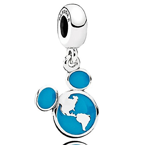 PANDORA DISNEY MICKEY VACATION CLUB ICON EAR WORLD GLOBE DISNEY PARKS CHARM by PANDORA
