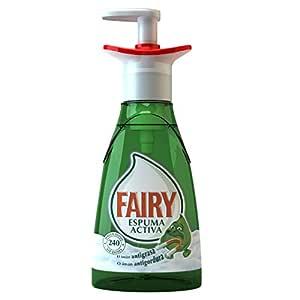 Fairy Espuma Activa - Lavavajillas, pack de 3x 375 ml (Total 1125 ml)