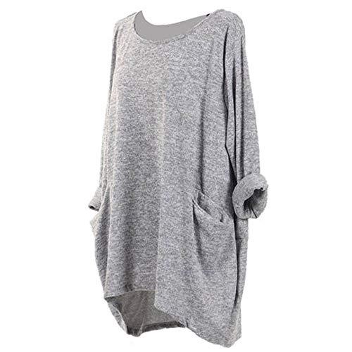 Long Sleeve Tunics, Toimoth Fashion Womens Long Sleeve O Neck Pocket T Shirts Loose Casual -