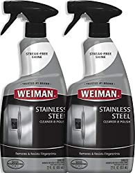 Weiman Stainless Steel Cleaner And Polish 22 Ounce 2 Pack Protects Appliances From Fingerprints And Leaves A Streak Free Shine For Refrigerator Dishwasher Oven Grill Etc 44 Ounce Total