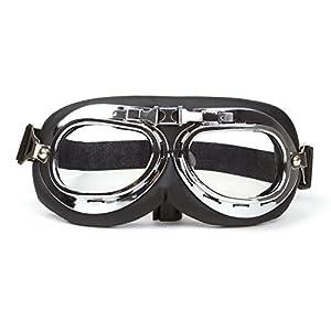 Motorcycle Biker Glasses Vintage Style Motocross Cruisers Sun Uv Wind Eye Protect Motorcycle Goggles Adjustable Strap