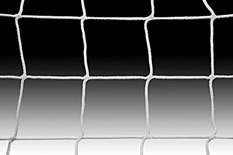 Kwik Goal SQSN-4 White Soccer Nets (Pair) - 4mm Htpp Net