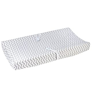 Carter's Changing Pad Cover, Smoke Grey Chevron, One Size