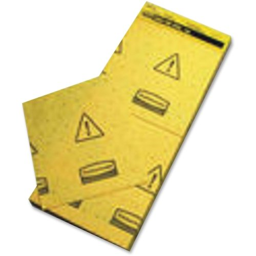 Rubbermaid Commercial Products FG425500YEL Over-The-Spill Slip-Resistant Pads, Mini-Tablet, 25-Sheet