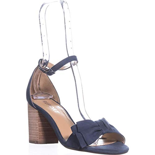 Report Womens Pearlina Open Toe Casual Ankle Strap Sandals, Blue, Size 6.5 ()
