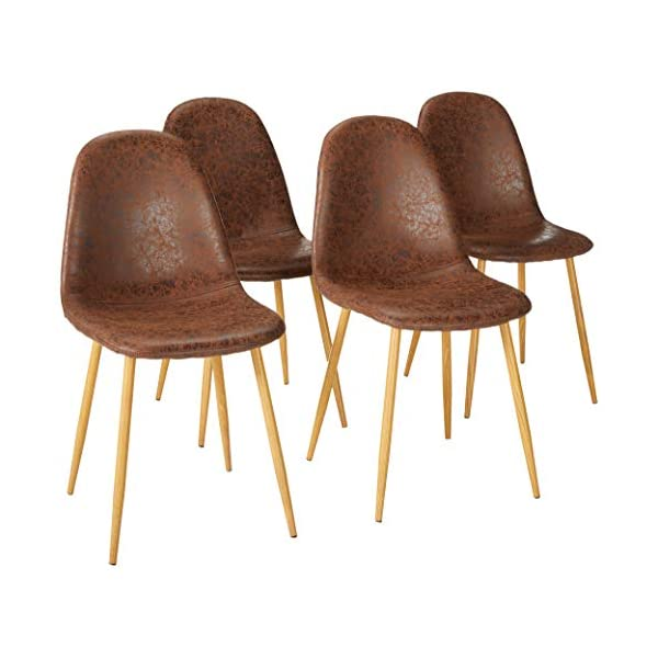 Set of 4 Eames Chair Metal Legsfor Dining Room Chairs
