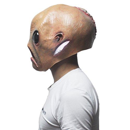 KingMas Halloween Alien Mask The Extra Terrestrial ET Latex Mask