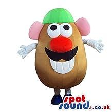 Popular Mr. Potato Toy Character Plush SPOTSOUND LTD Mascot Costume With Red Nose