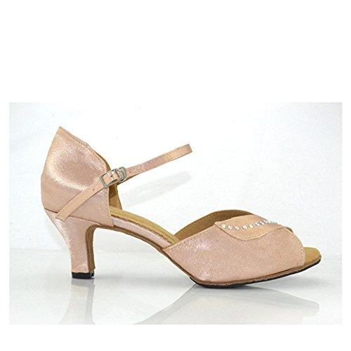 Adultes Chaussures Latine Clair Clair Clair 7cm Brun Danse Le Femmes Moderne   eedbe0