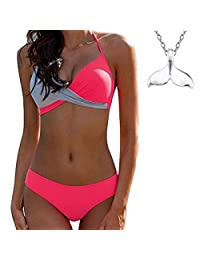 ae481022b1117 COME2LOOK Women's Sexy Bikini Set Two Pieces Swimsuit Swimwear Bathing Suit