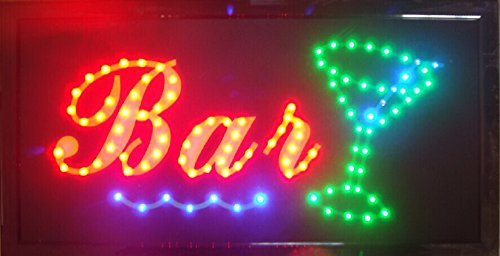 CHENXI BAR Pub Beer LED Neon Light Sign home decor shop signs of led size 48 X 25 CM indoor use (48 X 25 CM, D) (Indoor Neon Sign)