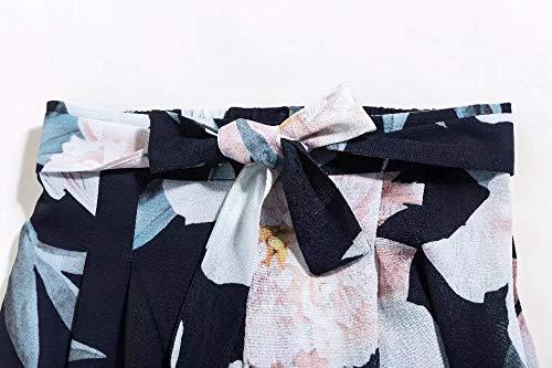 Impression The Confortable Long Sarouel Mode En Jambes Evasé Foncé Taille Pantalon Bleu Femme Doux Blansdi Vrac Large Chic New 2018 Haute Casual qOZT4t