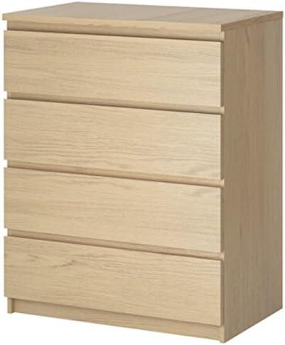 Ikea MALM – Juego de 4 cajones, White Stained Oak, 80x100cm ...