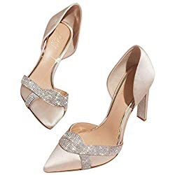 Women's Heels with Infinity Crystal Loop