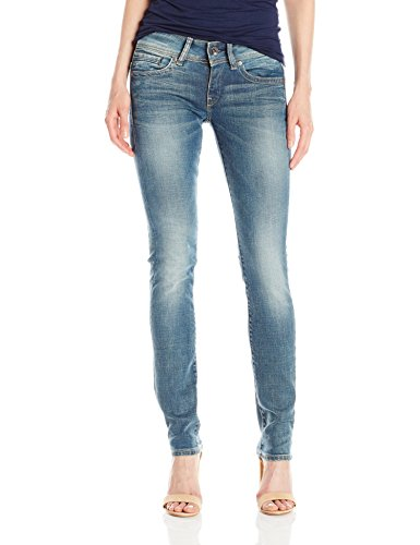 G-STAR RAW G-Star Midge Saddle Mid Straight - Vaqueros para Mujer Azul (Medium Aged)