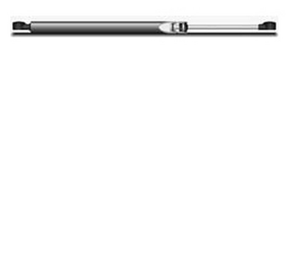 0.24'' Rod Diam, 0.59'' Tube Diam, 50 Lb Capacity, Hydraulic Dampers, Compression, 15.02'' Extended Length, 5'' Stroke Length, Threaded End, Chrome-Plated Piston