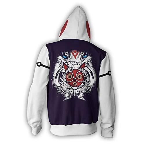 À Et Éclair Mononoke Princess shirts Fermeture Hd Sweat Pulls 3xl 3d Capuche s Poches Avec Unisexe Wycdbk Imprimer wFIqP