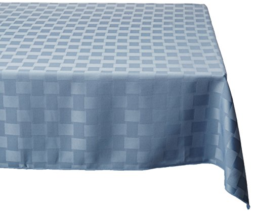 Bardwil Reflections Spill Proof Oblong / Rectangle Tablecloth, 52-Inch x 70-Inch, Stone - 52 Blue