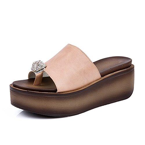 De OME En Sandalias Rosa La Pendiente Set De Tacón Llevar Y amp;QIUMEI Toe El Verano Zapatos rF0rw