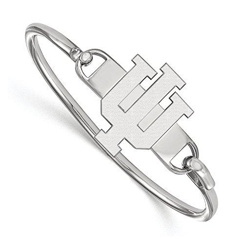 NCAA Sterling Silver Indiana University Lg 'IU' Bangle, 8 inch by LogoArt