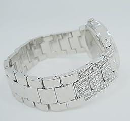 ARMRA Luxury Women Watch Fashion Jewelry Crystal Diamonds Rhinestones Ladies Watches Steel Band Round Dial Analog Display Clock Classic Quartz Female Charm Bracelet Dress Wristwatches (Silver)