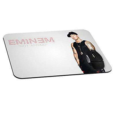 Rectangle Gaming Mouse Pad Mat DIY Pattern Mouspad Rubber Base Mousepads Waterproof Fade Resistant Eminem Not Afraid Single Music Star