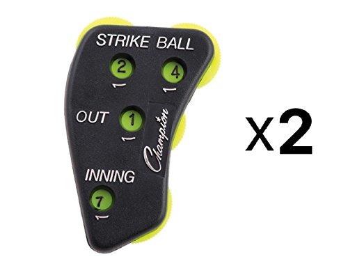 Champion Sports 4 Wheel Standard Optic Yellow Umpire Indicator - PIB (2-Pack)