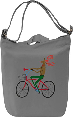 Deer bike Borsa Giornaliera Canvas Canvas Day Bag| 100% Premium Cotton Canvas| DTG Printing|