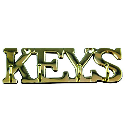 UPC 616806897562, Brass Key Holder for Wall Mount with Hooks to Organize Keys. Comes with Two Brass Screws for Key Hanger.