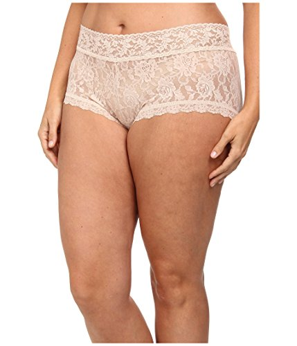 Hanky Panky Women's Plus Size Signature Lace Solid New Boyshort Chai Bikini 1X -