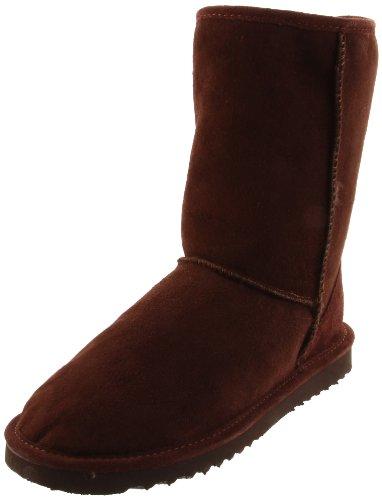 Minnetonka Womens Court Classique Pug Boot Chocolat