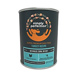 Simply Perfection Super Premium Turkey Recipe Canned Dog Food 79.2Oz Case, 6 Cans 68
