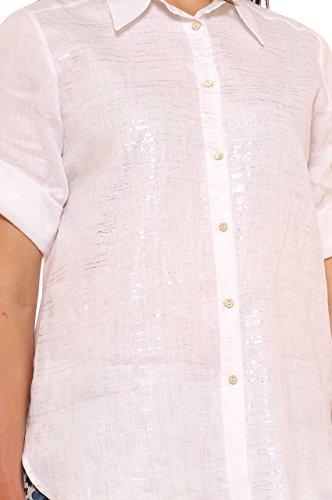 Donna In Morbida Con Bianco Valentina's Taglia Camicia Lino Glitter Puro 7Pq5g5wx